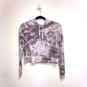 The Lounge Life Softest Cropped Tie Dye Hoodie
